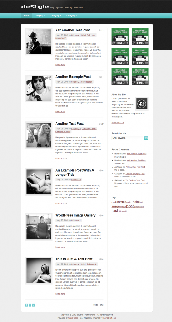 DeStyle WordPress Free Theme