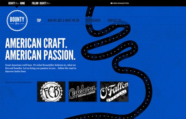 blue web design