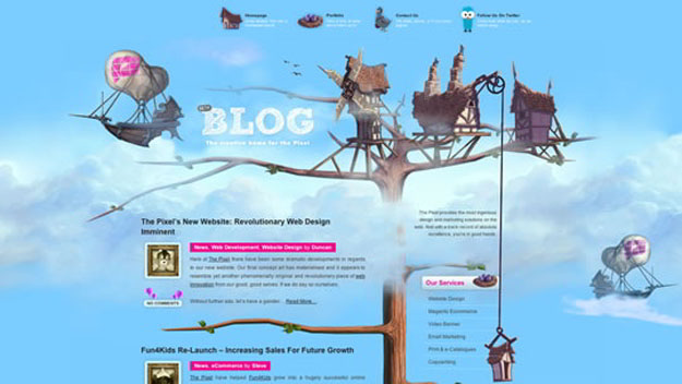 the-pixel-blue-website