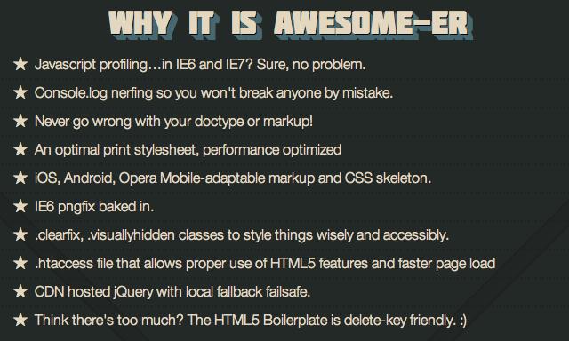 html5 awesome-er