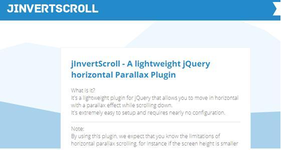 jInvertscroll plugin