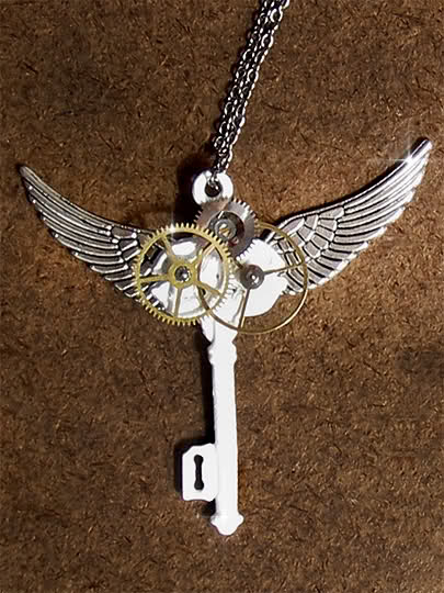 Steampunk Angel Key