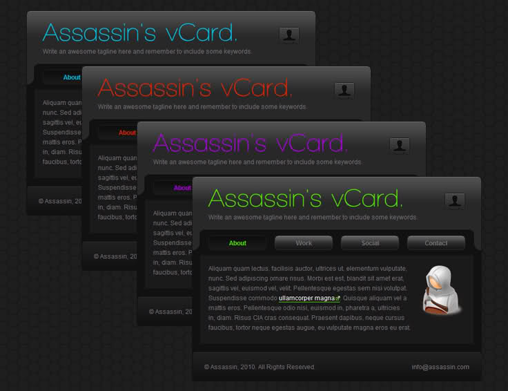 Assassin VCard