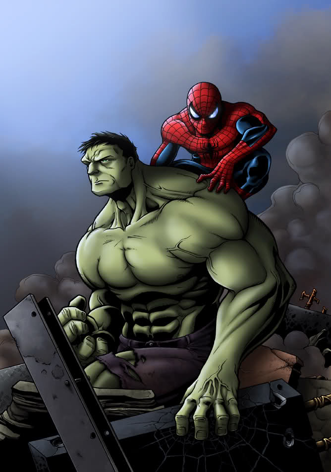 Incredible Hulk & Spidey