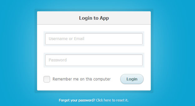 how to create a css3 login form
