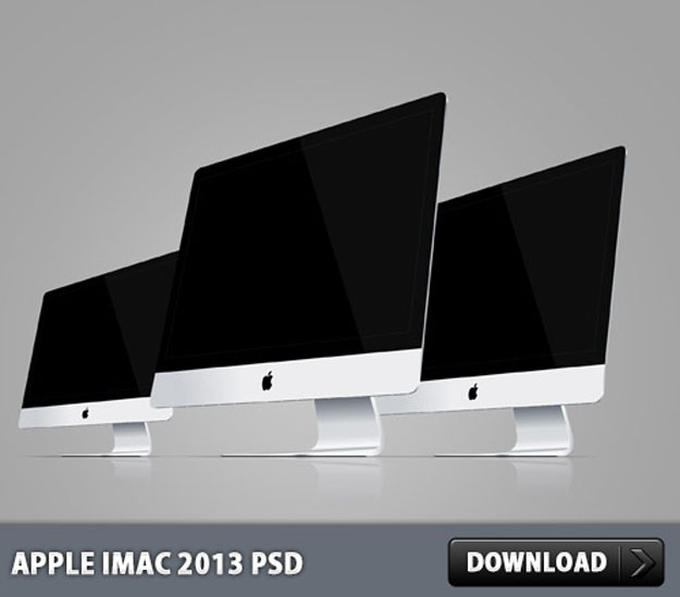 Apple-iMac-2013-PSD