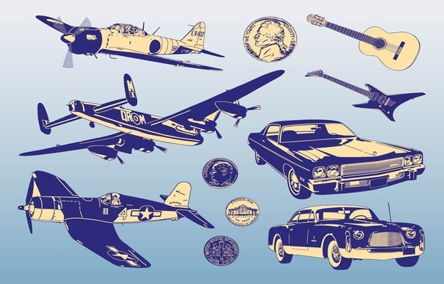 free vectors retro design graphics