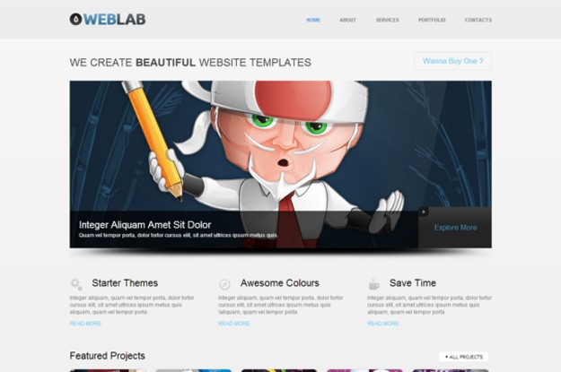 WebLab  theme [Free Html5 and Css3 Templates]