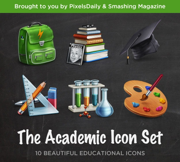 academic-icon-set-psd
