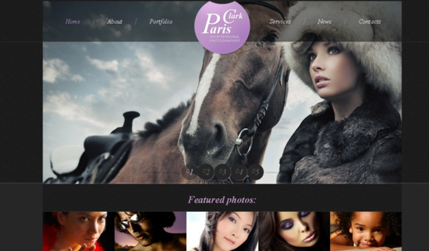 paris clark theme [Free Html5 Templates]